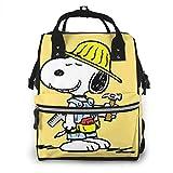 Bolsa de pañales-Trabajador Snoopy Mamá, Multifunción Gran Capacidad Mochila de Viaje Bolsa de Pañales