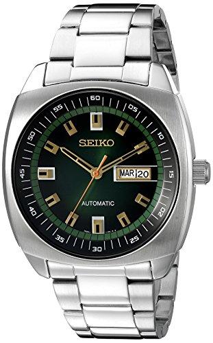 Seiko Watches Herren analog Automatik Uhr mit Edelstahl Armband SNKM97