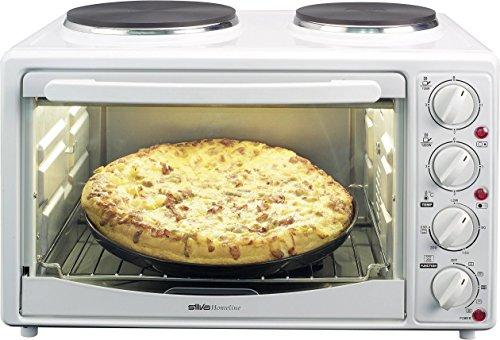 Silva-Homeline KK 2800-C Kleinküche mit Umluft und integrierten Kochplatten, 3300 W, 27 L