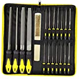 Kit de archivos planos de acero para aplicaciones Conjunto de archivos Carpintería Metal Modelo Hobby amarillas 18PCS funciones completas