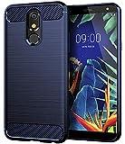 LG K40 Case,LG Solo Case,LG Harmony 3 Case,LG K12 Plus Case,Asmart Resilient Shock Absorption LG K40 Phone Case Slim Flexible TPU Cover Soft Lightweight Carbon Fiber Protective Case for LG K40, Blue