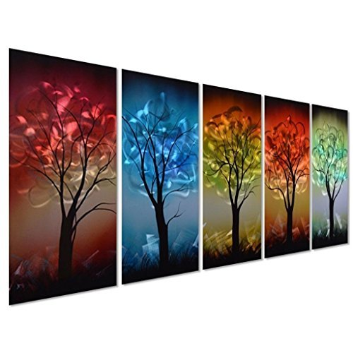 Pure Art Multi-Colored Tree Metal Wall Art - From Dusk til Dawn...