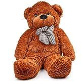 THE TWIDDLERS Ours en Peluche Grand, Teddy Bear, Nounours Brun - 80cm