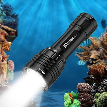 Wurkkos DL30 Diving Flashlight Rechargeable Max 3600lm LED Dive Flashlight Super Bright Using 3 pcs Samsung 90CRI LEDs,Underwater Scuba Dive Light IPX-8 Waterproof Submersible Flashlight