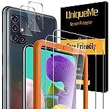 UniqueMe [2 pièces] Verre Trempé pour Samsung Galaxy A51 4G / 5G et [2...