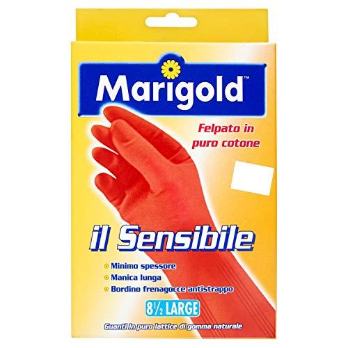 Marigold Il Sensibile 145679 Guanto, Minimo Spessore, Felpato in Puro Cotone, Manica Lunga con...