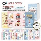 O Milestone Baby Cards Lola Kids  40 Cartas En Espaol Para Primer Ao De Beb Con Caja De Regalo - Diseo nico   Tarjetas De Recuerdo - Tarjetas Milestone - Regalos Recien Nacidos - Babyshower