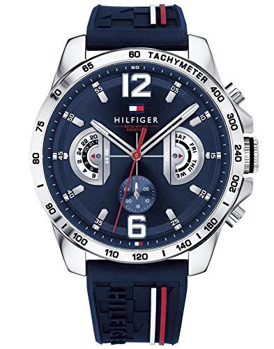 Tommy Hilfiger Unisex Multi Zifferblatt Quarz Uhr mit Silikon Armband 1791476