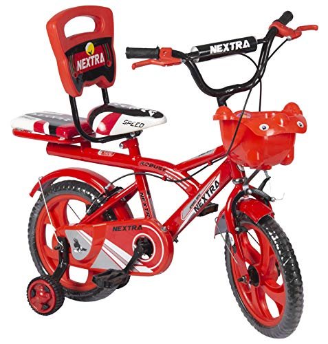 Speedbird 14-T Robust Double Seat Kids Bicycle for Boys & Girls - Age Group 3-6 Years (Red)