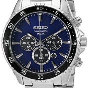 Seiko Men's 'Chronograph' Quartz Stainless Steel Dress Watch (Model: SSC445) 17