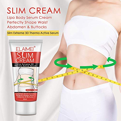 Hot Cream, Slimming Cellulite Firming Cream, Body Fat Burning building Massage Gel Weight Losing for Shaping Waist, Abdomen and Buttocks - 60ml 3