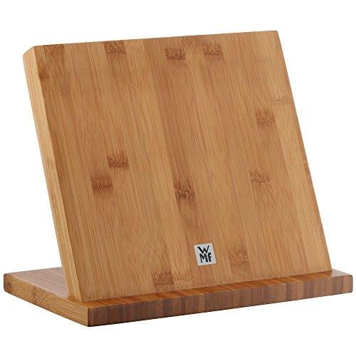 WMF Magnet-Messerblock ohne Messer, unbestückt, Holz, Buchenholz, leer, für 4-5 Messer, magnetisch