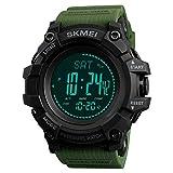 Compass Watch Army, Digital Outdoor Sports Watch for Men Women, Pedometer Altimeter Calories Barometer Temperature Waterproof …