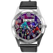 Taport - Reloj de piel para fanáticos de Fortnite, color negro
