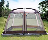 EVER ADVANCED Screen House Room Outdoor Screened in Canopy for Camping Zippered Mesh Tent 8-10 Person for Patios Shelter, 12' x10'
