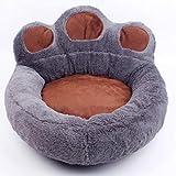 LA VIE - Cama antideslizante para mascotas con forma de huella de perro con suave y acogedor colchón portátil de felpa para perros pequeños, medianos y gatos, pajarita para perro, gafas de sol para animales
