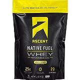 Ascent Native Fuel Whey Protein Powder - Lemon Sorbet - 2 lbs