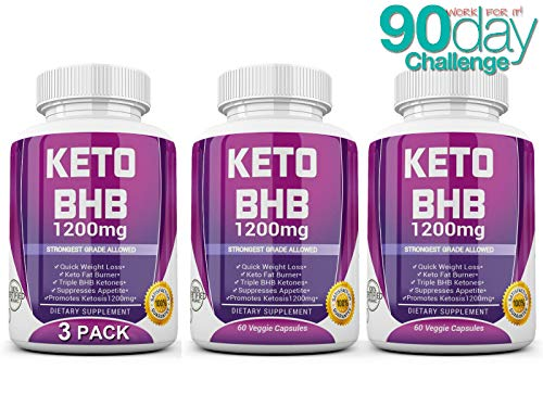 Keto Diet Pills - (1200mg 90 Day Supply) Weight Loss Fat Burner for Women & Men, Exogenous Ketones Supplement Boost 9