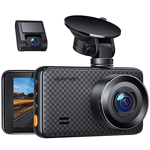 APEMAN 1440P&1080P Dual Dash Cam, 1520P max, Support 128GB, Front and Rear Camera for Cars with 3...