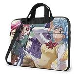 Hdadwy Rosario + Vampire Laptop Shoulder Messenger Bag Funda para computadora portátil de 15.6 Pulgadas 15.6 Pulgadas