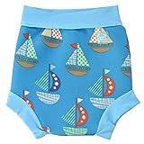 Splash About Happy Nappy, Pañal de natación para Bebé, Multicolor (Set Sail), Large (6-14 Meses)