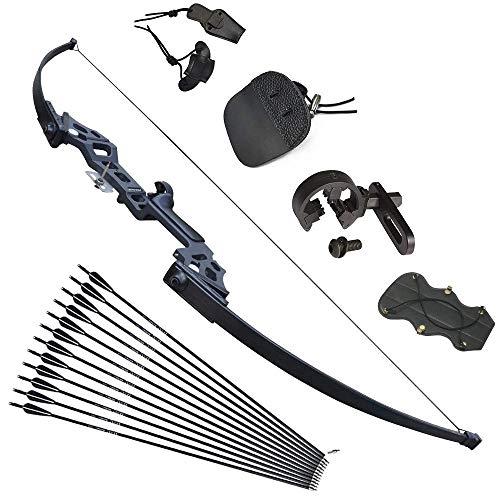 Tongtu 40lbs Bogenschießen Pfeil und Bogen Recurvebogen Set Takedown Stright Recurve Bogen Set Jagd Praxis Erwachsene Outdoor Sports
