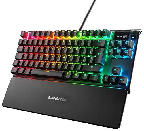 SteelSeries Apex Pro TKL Compacto Teclado mecánico para Gaming Teclas...