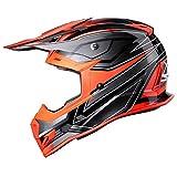 GLX Unisex-Adult GX23 Dirt Bike Off-Road Motocross ATV Motorcycle Helmet for Men Women, DOT Approved (Sear Orange, Large)
