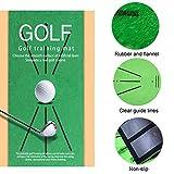 Alfombrilla de golf, portátil de entrenamiento de golf para detección de columpios, mini golf, práctica de entrenamiento, regalo para casa, oficina, uso al aire libre