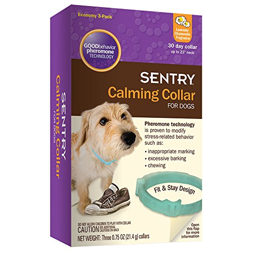 SENTRY Calming Collar for Dogs, Up to 23-Inch...