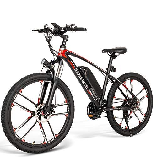 SAMEBIKE Bicicleta Eléctrica de Montaña 26 Pulgadas para Adultos,...