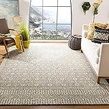 Safavieh Micro-Loop Collection MLP801H Handmade Wool Area Rug, 8' x 10', Charcoal/Ivory