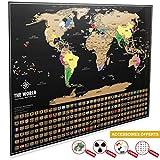 Carte du Monde à Gratter XXL [ Edition Premium 2019 ] – Carte du Monde...