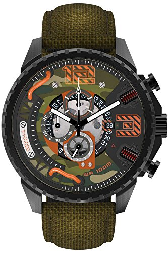 Timecode Tesla 1893 Herren-Armbanduhr Chronograph Quarz TC-1012-06