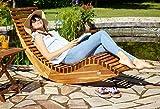 Deuba Schwungliege FSC®-zertifiziertes Akazienholz Ergonomisch Wippfunktion Gartenliege Sonnenliege Relaxliege Saunaliege - 3