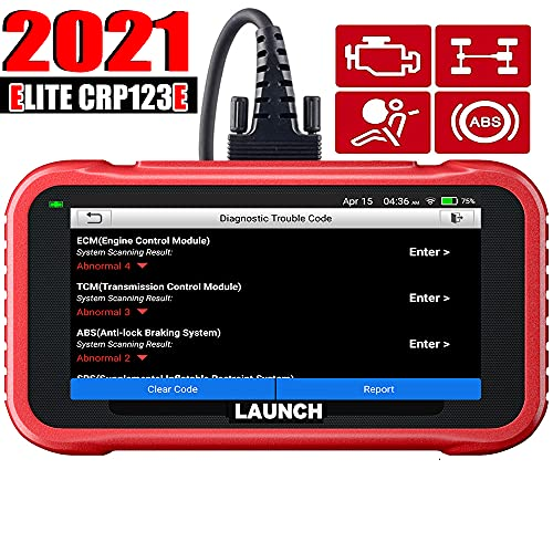 [2021 New Elite]LAUNCH OBD2 Scanner CRP123E- Engine/ABS/SRS/Transmission Diagnostic Scan Tool with Battery Test, AutoVIN,5' Touchscreen WiFi Free Update, Car Code Reader for All Cars