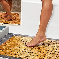 HANKEY Luxury Multipurpose Bamboo Bath Mat