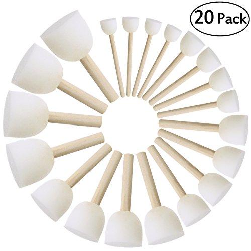 ULTNICE Runde Schwämme Pinsel Set Kinder Pinsel DIY Malerei Werkzeuge Packung mit 20
