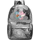 Hdadwy Mochila Gumball Amazing World Galaxy Mochila Informal Mochila Escolar Ligera para Viajes de Negocios para Estudiantes