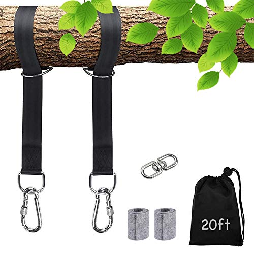 Tree Swing Straps, 2 Pack, 20ft Extra Long for each, Hold 6600 lbs...