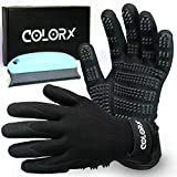 ColorX Upgraded Version Pet Grooming Glove & Brush Set - Pet Hair Remover for Cat and Dog - Premium Pet Gloves for Hair Removal,Brush for Shedding, Dogs,Cats