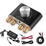Nobsound Mini Amplificateur de puissance Bluetooth; Stereo Hi-Fi Digital Amp 2.0 Channel 50W × 2 avec entrée AUX / USB / Bluetooth; Récepteur audio sans fil; Carte son avec carte d'alimentation (noir)