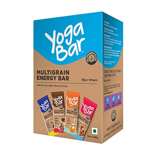 Yogabar Multigrain Energy Bars 380Gm Pack (38G x10) - Healthy Diet with Fruits, Nuts, Oats and...