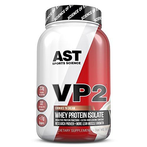 VP2 Whey Protein Isolada Hidrolisada AST-Sports Science Sabor Cookies and Cream