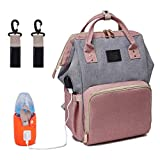 LOVANA Backpack Diaper Bag Nappy Bags with USB Charging Port & Bottle Warmer