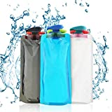 BESTZY 3 pièce Bouteille d'eau Pliable de 700ml Portable Bouilloire Sports...