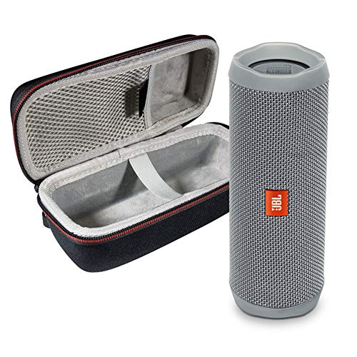513MXUsnOkL This Bundle Includes: (1) JBL FLIP 5 Portable Bluetooth Speaker and (1) Portable Hardshell Case A full–featured IPX7 waterproof portable Bluetooth speaker with surprisingly powerful sound This speaker is powered by a 3000 mAh rechargeable Li–ion battery that offers 12 hours of continuous, Audio playtime