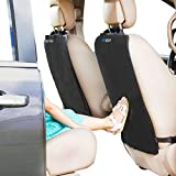 Enovoe Kick Mats - 2 Pack - Premium Quality Car Seat Protector Mat Best Waterproof Protection of Your Upholstery from Dirt, Mud, Scratches - Extra Large Car Seat Back Covers
