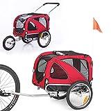 Sepnine or Leonpets 2 in1 Medium pet Dog Bike Trailer Bicycle Carrier and Jogger 10201 (red)