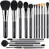 BESTOPE Makeup Brushes 16 Pcs Synthetic Contour Brushes Set for Foundation Powder Liquid Cream Concealers Eyeshadows Blush Blending Makeup Brush Set (Holographic Logo)